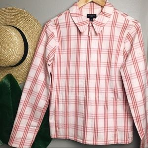 Burberry Plaid Pink Golf Jacket